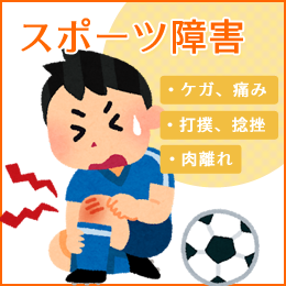 スポーツ障害の悩み